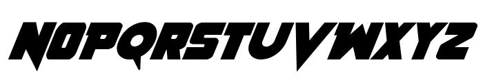 Pistoleer Bold Italic Font UPPERCASE