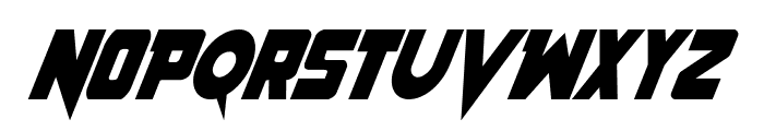 Pistoleer Condensed Italic Font UPPERCASE