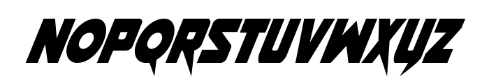 Pistoleer Condensed Italic Font LOWERCASE