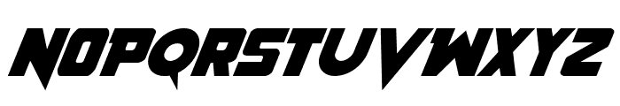 Pistoleer Italic Font UPPERCASE