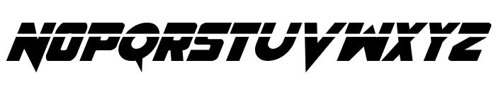 Pistoleer Laser Italic Font UPPERCASE