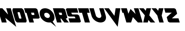 Pistoleer Leftalic Font UPPERCASE
