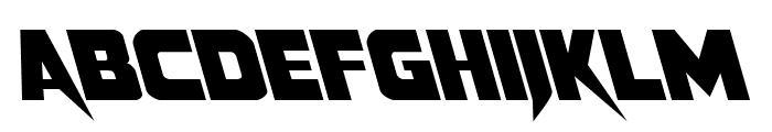 Pistoleer Leftalic Font LOWERCASE