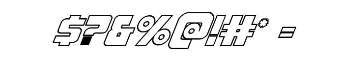 Pistoleer Outline Italic Font OTHER CHARS
