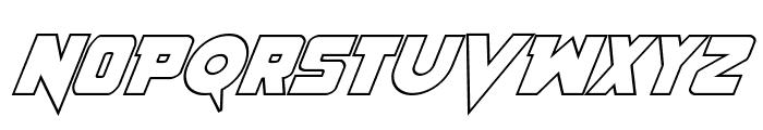 Pistoleer Outline Italic Font UPPERCASE