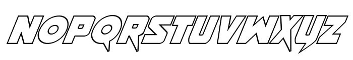 Pistoleer Outline Italic Font LOWERCASE