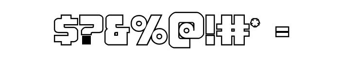Pistoleer Outline Regular Font OTHER CHARS
