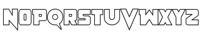 Pistoleer Outline Regular Font UPPERCASE