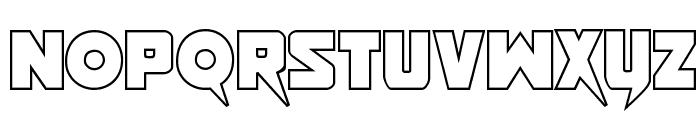 Pistoleer Outline Regular Font LOWERCASE