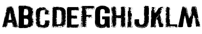 Pistolgrip Font UPPERCASE