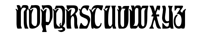 Pittoresk Condensed Font UPPERCASE