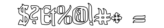 Pittoresk Hollow Font OTHER CHARS