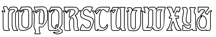 Pittoresk Hollow Font UPPERCASE