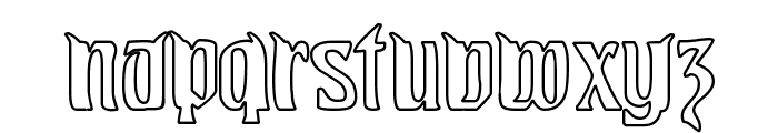 Pittoresk Hollow Font LOWERCASE