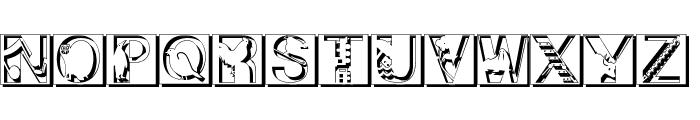PixCapsShadow Font LOWERCASE