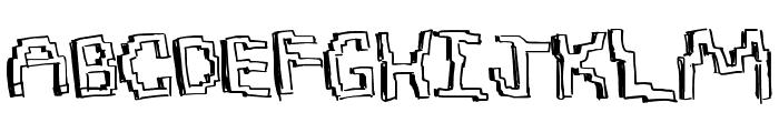 PixelDraw Font UPPERCASE