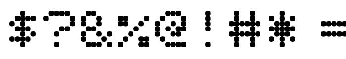 PixelScreen Regular Font OTHER CHARS