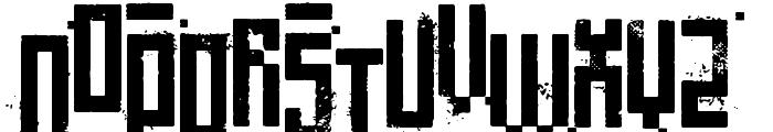 Pixelic War Font UPPERCASE