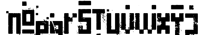 Pixelic War Font LOWERCASE