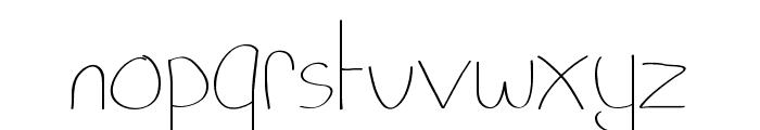 Pixie's Scribbles Font LOWERCASE