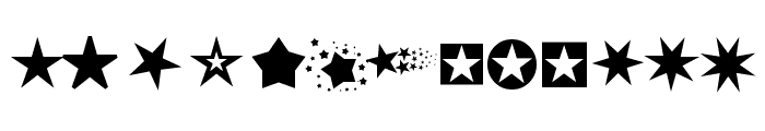 PizzaDude Stars Font UPPERCASE