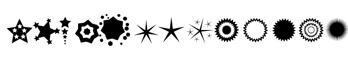 PizzaDude Stars Font LOWERCASE