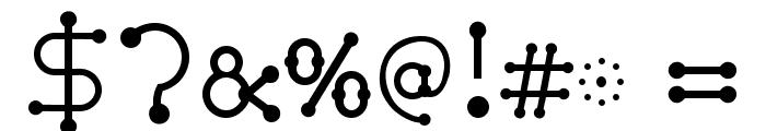 pierced  Regular Font OTHER CHARS