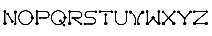 pierced  Regular Font UPPERCASE