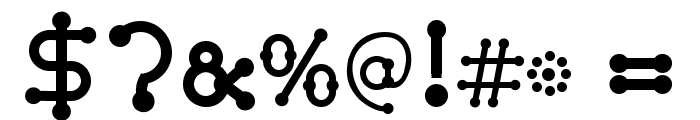 pierced  black Font OTHER CHARS