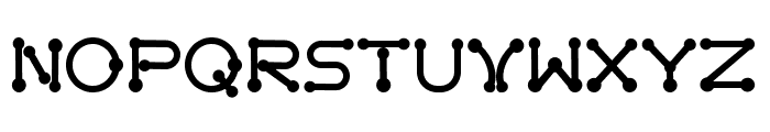 pierced  black Font UPPERCASE