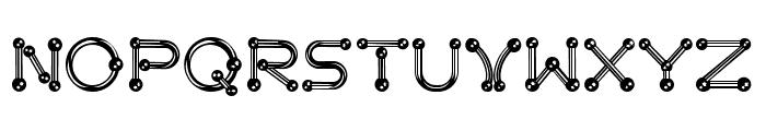 pierced  chrom Font UPPERCASE