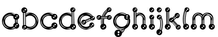 pierced  chrom Font LOWERCASE