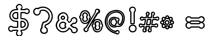 pierced  outline Font OTHER CHARS