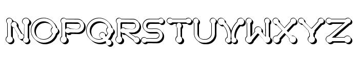 pierced  tree-d Font UPPERCASE