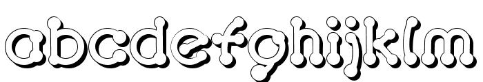 pierced  tree-d Font LOWERCASE