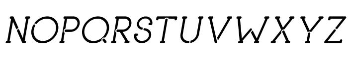 piron Italic Font UPPERCASE