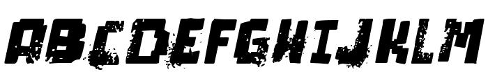 pixel dead Italic Font UPPERCASE