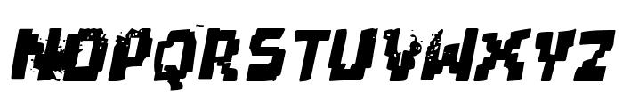 pixel dead Italic Font LOWERCASE