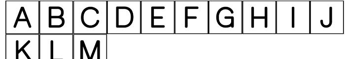 PIXymbols Crossword Regular Font UPPERCASE