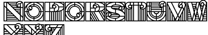 PIXymbols Deco Glass Bold Font UPPERCASE