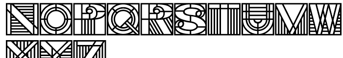 PIXymbols Deco Glass Bold Font LOWERCASE