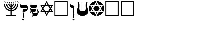 PIXymbols Faux Hebrew Regular Font OTHER CHARS