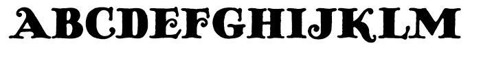 Pickworth Old Style Regular Font UPPERCASE