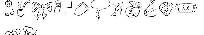 Picto Handwriting Regular Font LOWERCASE