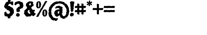 Piedra Regular Font OTHER CHARS