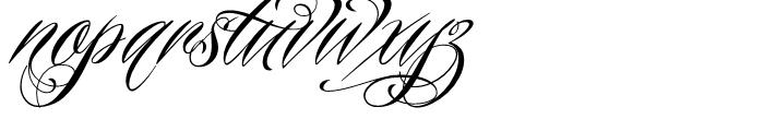 Piel Script Redux Font LOWERCASE