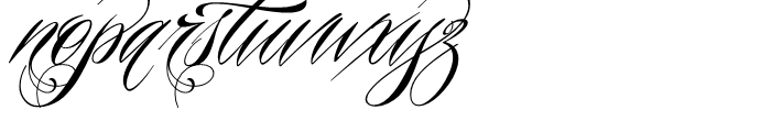 Piel Script Regular Font LOWERCASE
