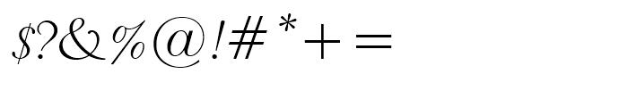 Piranesi Italic Font OTHER CHARS