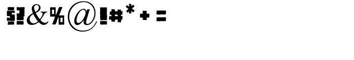 Pitball Medium Font OTHER CHARS