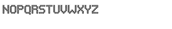 Pixelar Outline Textured Font UPPERCASE